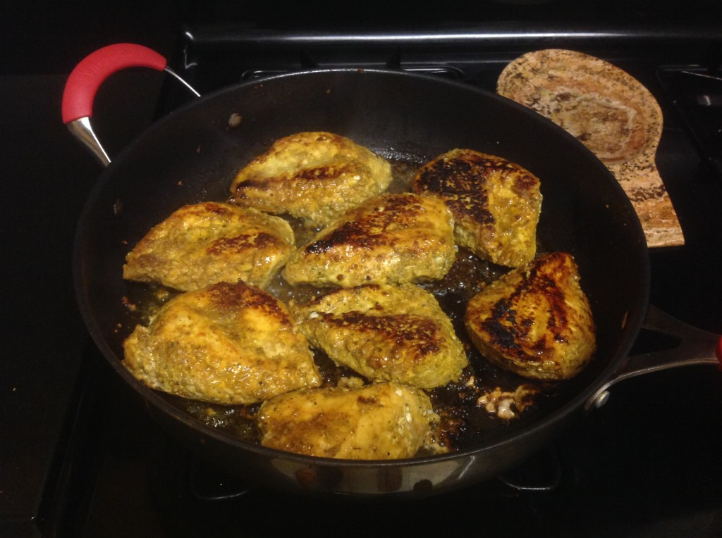 Chicken cooked and done!